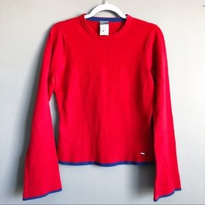 Tommy Hilfiger • Red Wide Sleeve Sweater